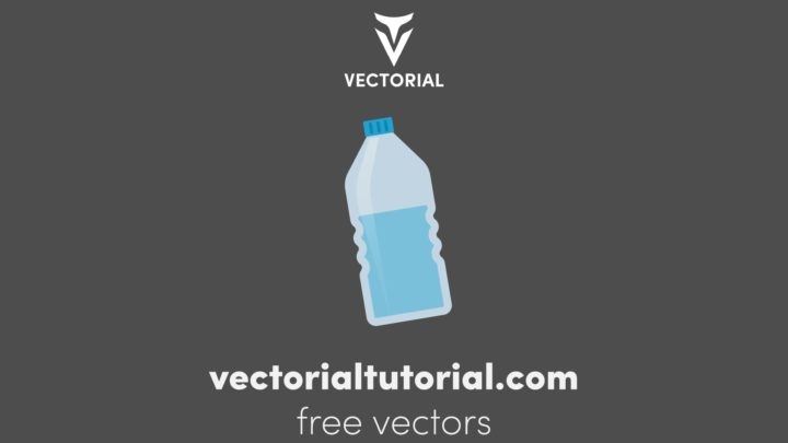 Flat design Water bottle – Free vector illustration