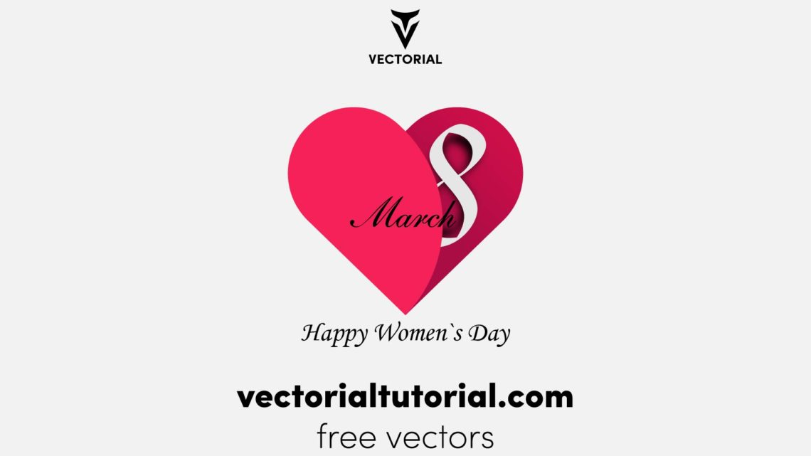 Happy 8 March womens day card Free vector illustration