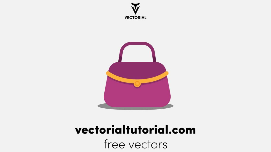 Flat design Woman bag Free vector illustration, isolated on white background