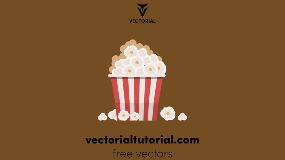 Flat design Popcorn – Free vector illustration
