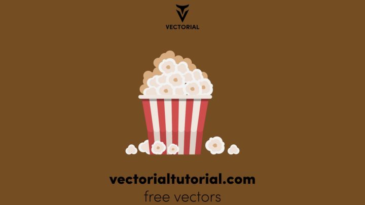 Flat design Popcorn – Free vector illustration