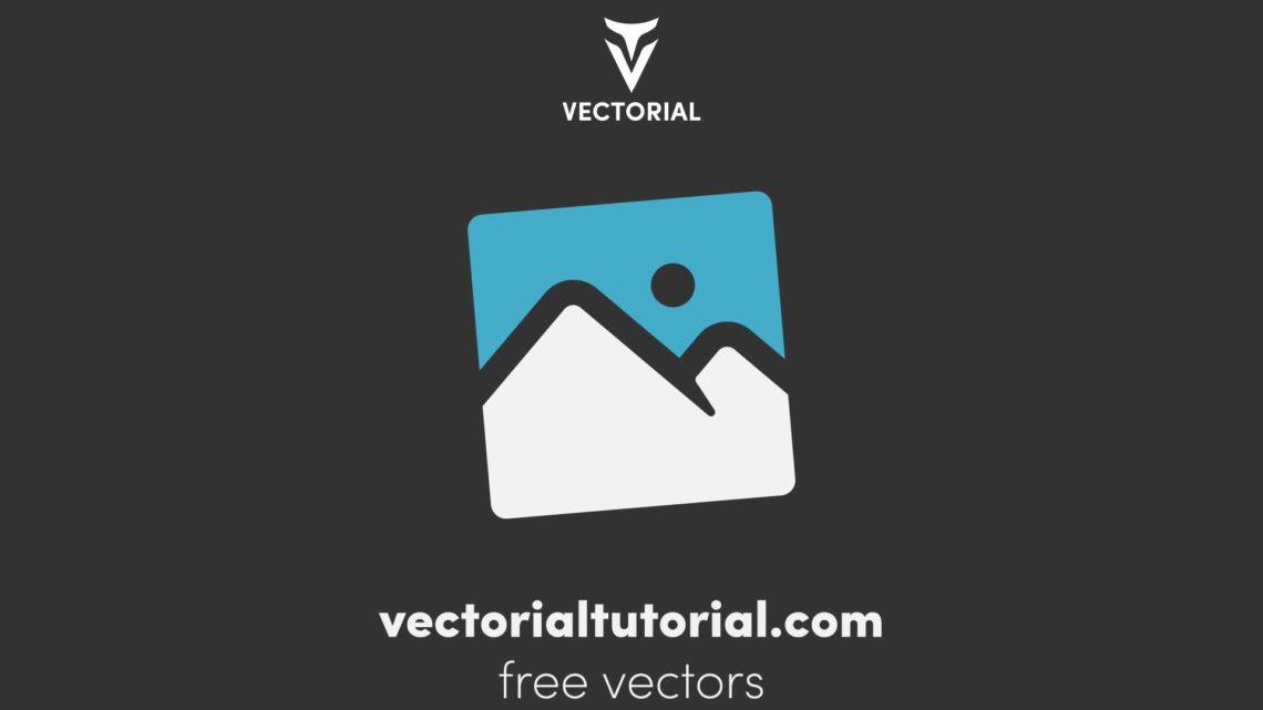 Flat design Pictures icon, Gallery flat icon, Free vector illustration, isolated on background