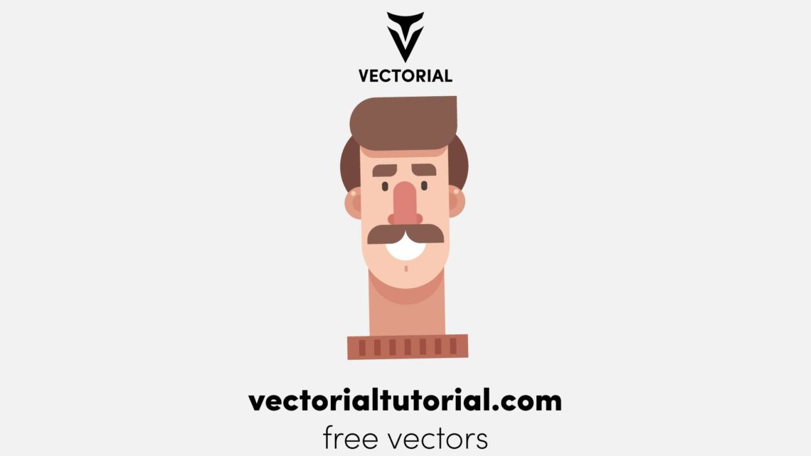 Flat design man character- Free vector illustration, cartoon character, isolated on white background