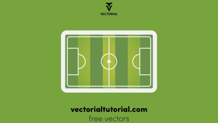 Soccer, european green football field. Soccer green field for sport game. Isolated on white background, vector illustration