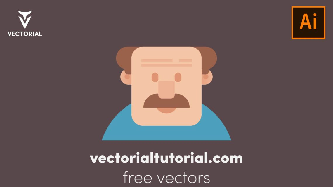 Flat design character, old man character , vector illustration, isolated on white background
