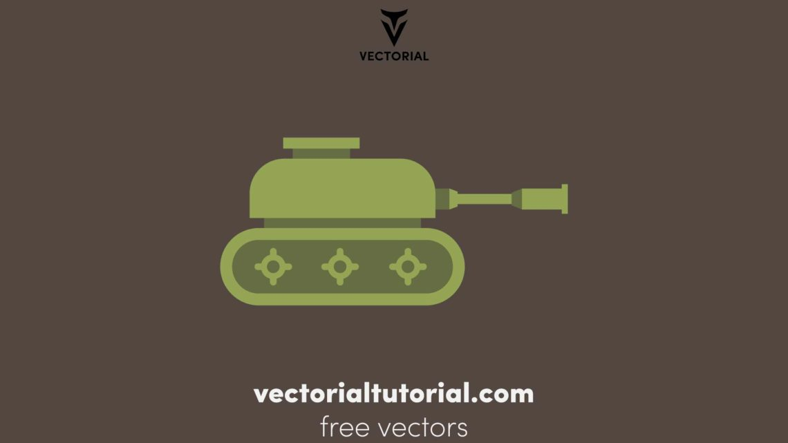Flat design Panzer vector illustration, Panzer icon, isolated on background