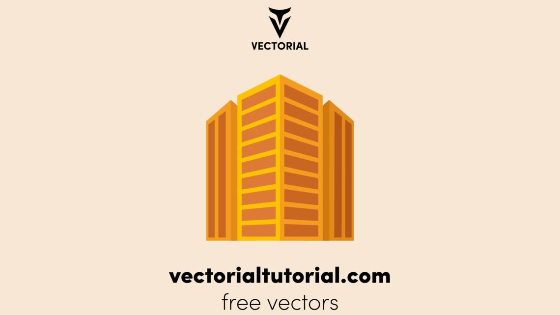 Flat design Perspective buildings vector illustration, buildings icon, isolated on background