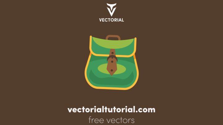 Flat design Backpack vector illustration  bag icon