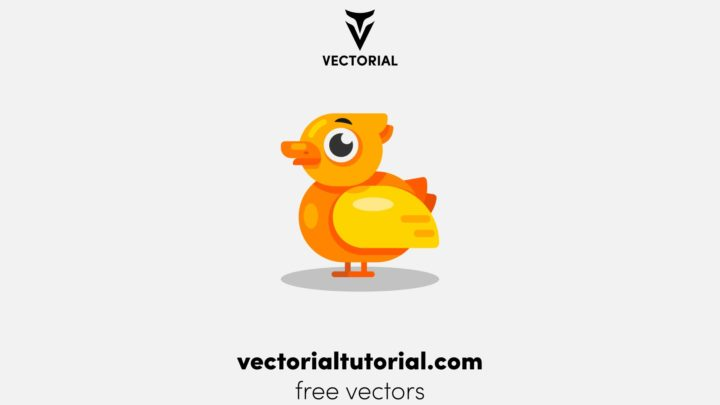 Flat design Duck vector illustration