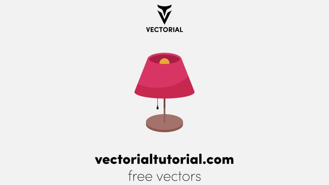 Flat design Lamp vector illustration