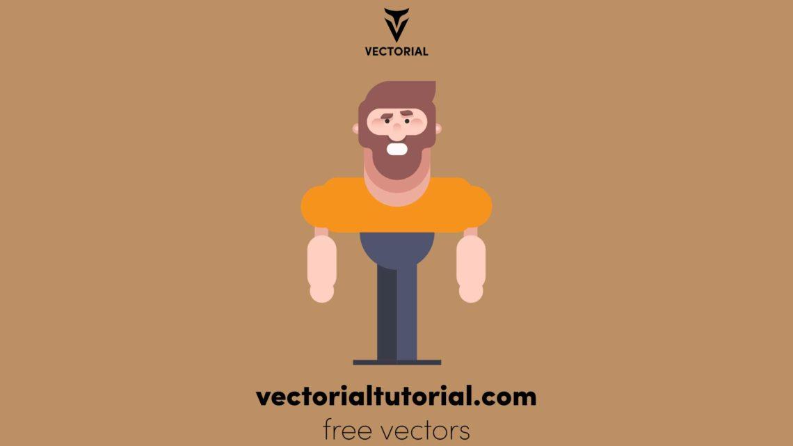Flat design Character vector illustration