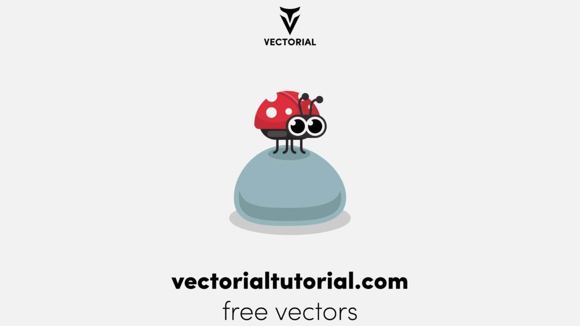 Ladybug character vector illustration, ladybug flat icon, isolated on white background