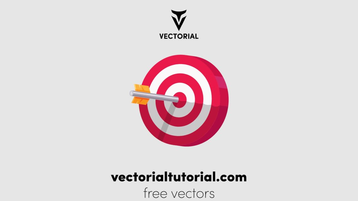 Flat design Target vector illustration, target icon