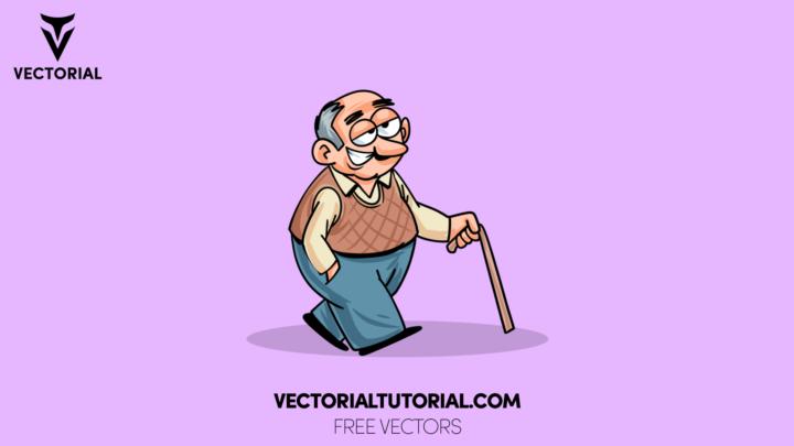 Oldman character illustration